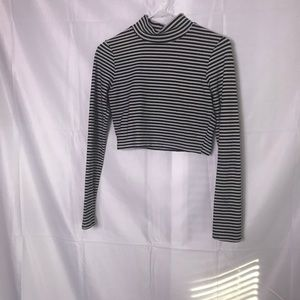 Charlotte Russe Black and White Crop Top